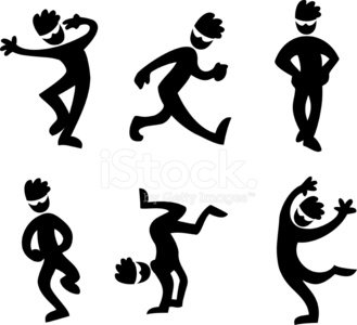 Funny dancing silhouettes