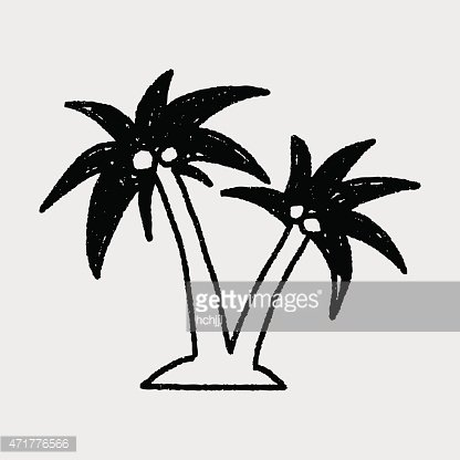 doodle coconut trees
