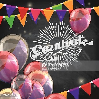 vector typographical illustration of ornate chalk word carnival