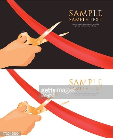 Vector Template Of Grand Opening Invitation Cards Clipart