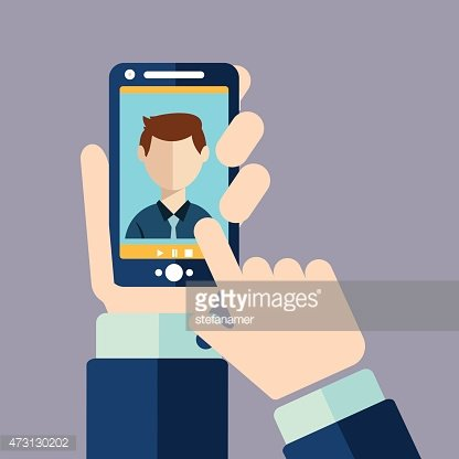 Video Call, Online Conference Smart Phone premium clipart