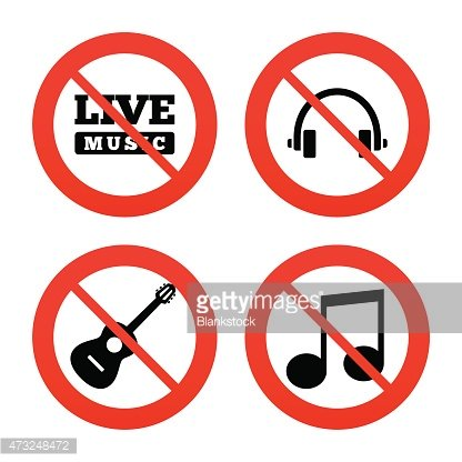 Musical elements icon. Music note and guitar