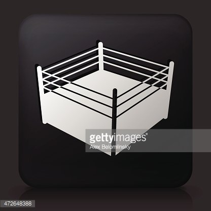 Black square button with boxing ring icon premium clipart black square button with boxing ring icon ccuart Images