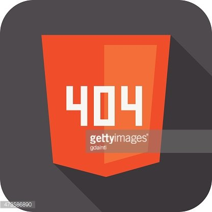 vector collection of web development shield sign with 404 error