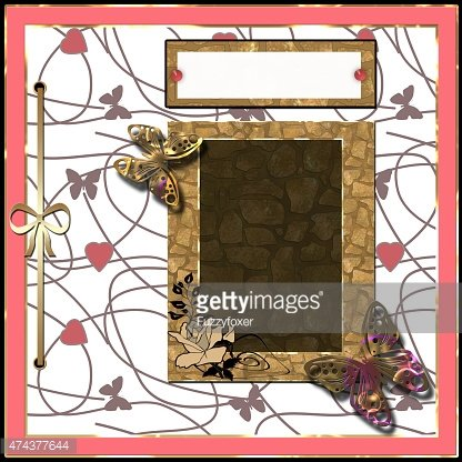 Scrapbooking Frame Ribbon Dividers And Decorations Premium Clipart