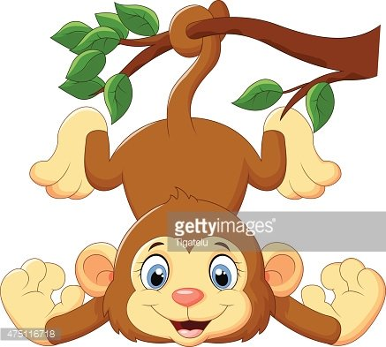 Chimpanzee Monkey Tree Clip Art - Monkey On Tree Drawings - Free  Transparent PNG Clipart Images Download