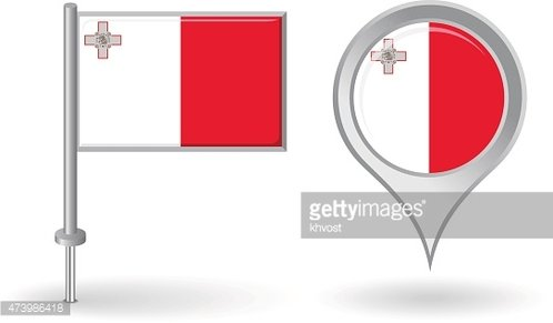 Maltese Pin Icon and Map Pointer Vector premium clipart ...