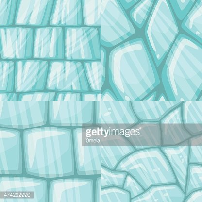 vector cartoon ice seamless texture collection clipart image clipartlogo com