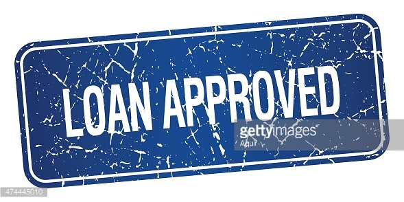 loan approved blue square grunge textured isolated stamp