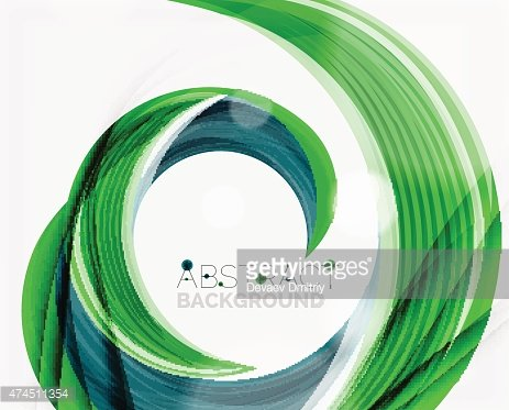 Vector swirl line abstract background