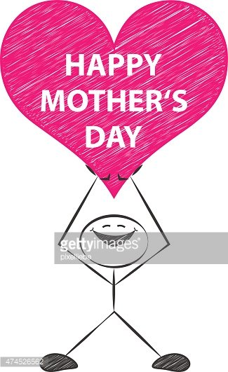 mothers day vector drawing