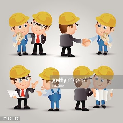 People Set - Profession - Engineers meeting connection