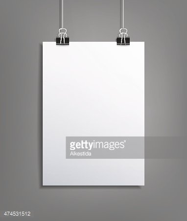 Vector background with a piece of paper