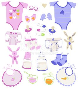 Baby boy and girl collection