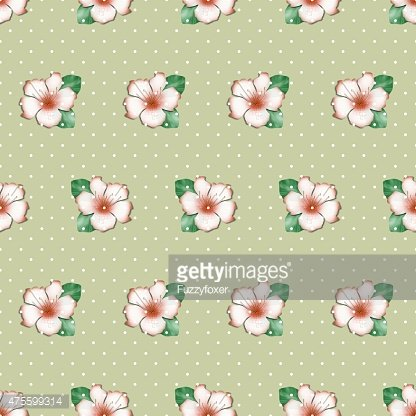 Seamless floral pattern with cute azalea flowers background