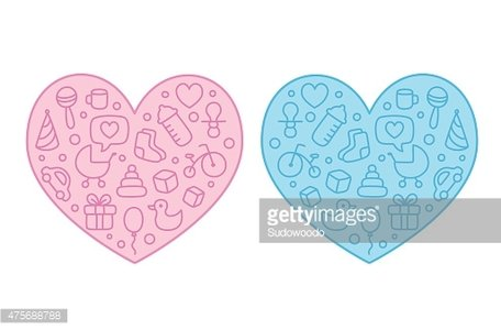 Abstract Baby Pram Hearts Stock Image   Download Now
