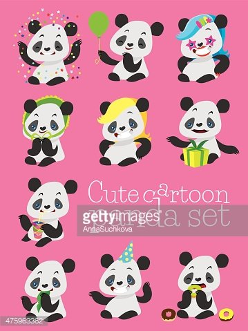 Cute Birthday Pandas Are Commercially Available Elements, Lovely, Cartoon,  Little Panda PNG Transparent Clipart Image and PSD File for Free Download