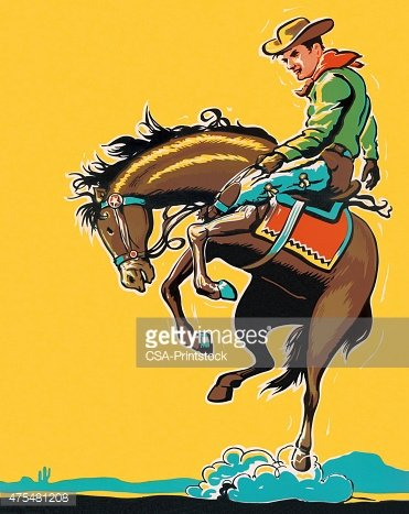 Man Riding Bucking Horse