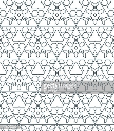 dark monochrome color triangle contour abstract geometric seamle
