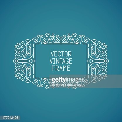 Single vector vintage floral frame for your text