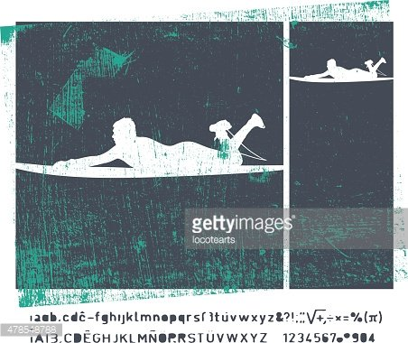 stencil surf posters with rider
