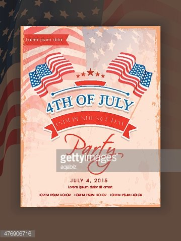 Invitation Card For American Independence Day Premium