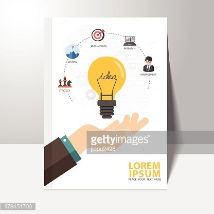 Vector infographics background business idea concept book cover design template