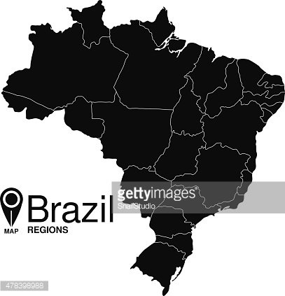 Map of Brazil silhouette