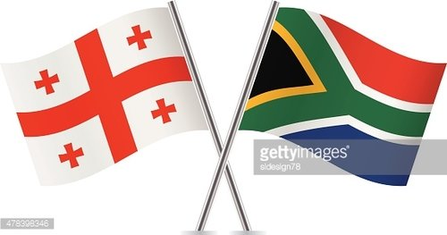 Georgia and South Africa flags. Vector.
