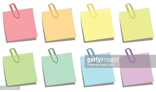 Paper Clips Notepads Colors