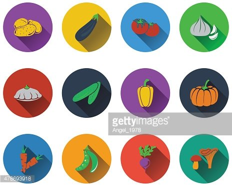 Set of vegetables icons