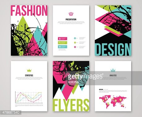 Set of fashionable business card templates.