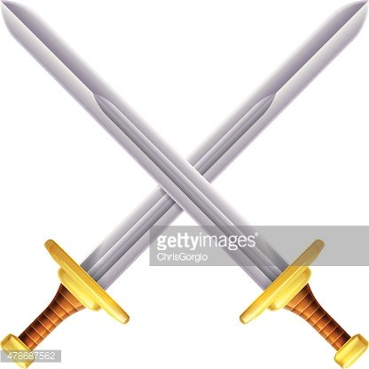 Crossed swords illustration