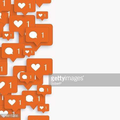 Vector modern concept heart with bubble speech