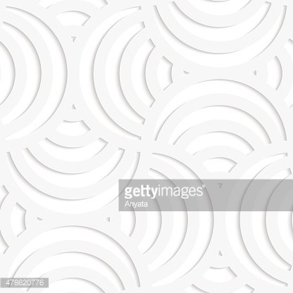 White paper 3D four stripes circle pin will