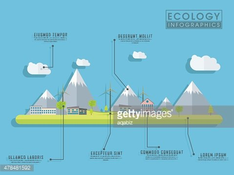Save ecological infographic layout.
