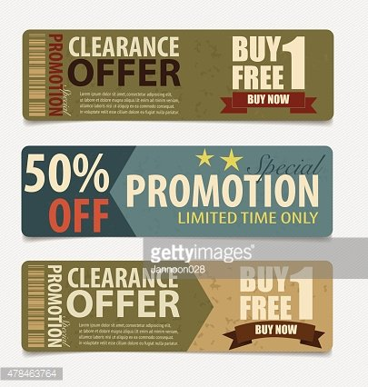 Sale Coupon, tag. Vintage Style template Design vector