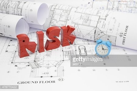 Blueprints and risk of passing the deadline in construction projects