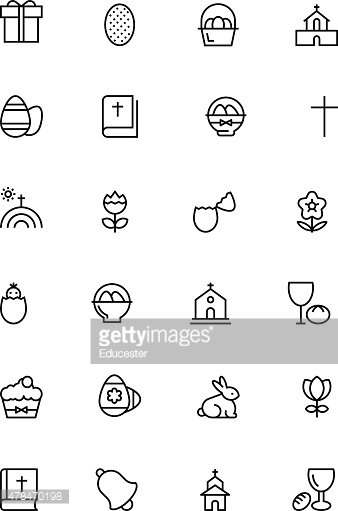 Easter Vector Line Icons 2