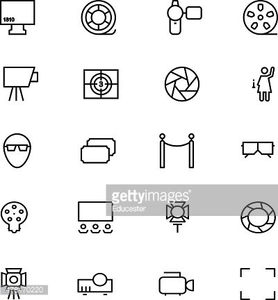 Cinema Vector Line Icons 6