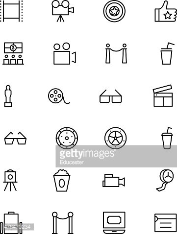 Cinema Vector Line Icons 5