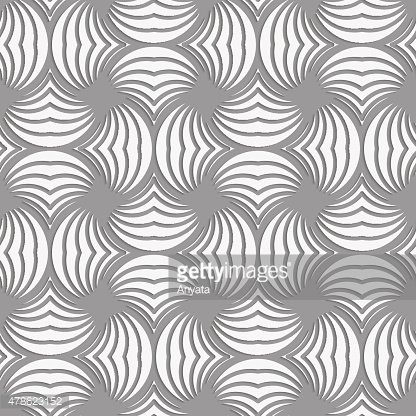Perforated twisted striped circle pin will