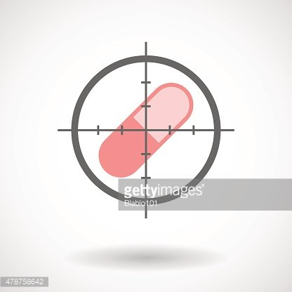 Crosshair icon with a pill