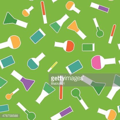 Chemical test tube seamless pattern