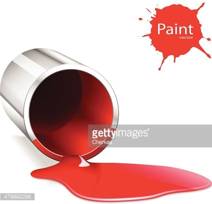 capacity with a red paint