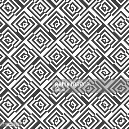 Alternating black and white diagonally cut squares with turn
