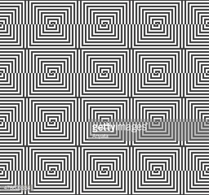 Alternating black and white half squares reflected