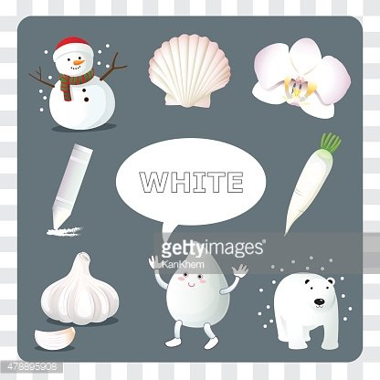 White color on gray Background