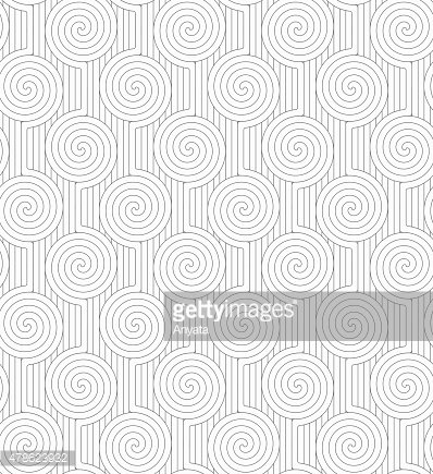 Gray merging Archimedean spirals with continues lines