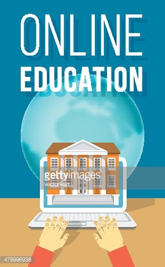 Online Education using Computer Flat Concept